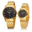 MIKE นาฬิกาคู่รัก สีทอง หน้าปัดสีดำ รุ่น M-8237