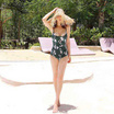 Wolfox Swimwear One Piece Green Leaf