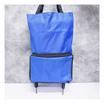 DOLPHIN กระเป๋าชอปปิ้งมีล้อลากพับเก็บได้สีน้ำเงิน