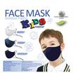 FQ&L หน้ากากผ้ากันน้ำ สำหรับเด็ก (แพ็กคู่ / สีกรมเข้ม + ยีนส์)