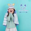 Homrak ผ้าห่มฮู๊ด Cutie สีน้ำเงินหูแมว 30x35 นิ้ว