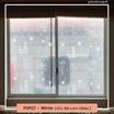 POPO ฟิล์มสูญญากาศติดกระจก ลายซานตาครอสฤดูหนาว แพ็คคู่