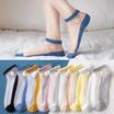 ถุงเท้าแฟชั่น รุ่น ซีทรู เดซี่ 1 แพค มี 10 คู่ คละสี