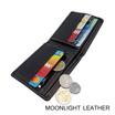 Moonlight WL073BKO กระเป๋าสตางค์หนังแท้ 100% สีดำ