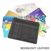 Moonlight AC027BRO กระเป๋าใส่เหรียญ ใส่บัตรหนังแท้ รุ่น Pure สีน้ำตาลเข้ม