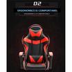 TS Modern Living เก้าอี้เกมส์ ปรับเอนนอน ปรับสูง-ต่ำ เก้าอี้เกมมิ่ง รุ่น CH0006RD