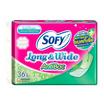 โซฟี แผ่นอนามัย ลอง&ไวด์ แอนตี้แบค ไม่มีกลิ่นหอม (ห่อละ 36 ชิ้น)