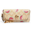 COACH SUNGLASS CASE IN SIGNATURE CANVAS WITH WATERMELON PRINT (QWB) [MC2039QWB-CV]