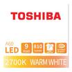 TOSHIBA  หลอด LED Bulb G7 9W วอร์มไวท์ E27