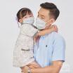 หน้ากากผ้า รุ่นเซฟการ์ด (แอนตี้ไวรัส&แอนตี้แบคทีเรีย) สไตล์ยุโรป (เด็ก 3-5 ปี)- สีเทา