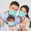 หน้ากากผ้า รุ่นเซฟการ์ด (แอนตี้ไวรัส&แอนตี้แบคทีเรีย) สไตล์ยุโรป (เด็ก 3-5 ปี)- สีเขียวอมฟ้า