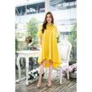 นิศา เดรสยาวผ้าคอตต้อนฟรีไซส์ สีเหลือง