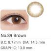 คอนแทคเลนส์สีแบบรายเดือน Maxim O Brown - 350