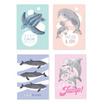 สมุดโน๊ต A5 Save Sea Life คละลาย (แพ็ก 4 เล่ม)