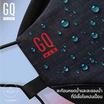 GQ Maxหน้ากากผ้าสะท้อนน้ำและกันฝุ่น PM สีดำ
