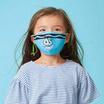 SchoolMaskPack Crayola เซ็ตหน้ากากผ้า ลาย Blues and Greens Tip Faces (ขนาดเล็ก) 1แพ็ก5 ชิ้น
