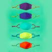 SchoolMaskPack Crayola เซ็ตหน้ากากผ้า ลาย Cool Colors (ขนาดมาตรฐาน) 1แพ็ก5 ชิ้น