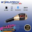 Worldtech Bluetooth Car Kit X5 FM Transmitter รุ่น WT-87FM-20 บลูทูธในรถยนต์