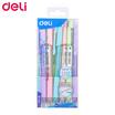 Deli Q199 ปากกาลูกลื่นด้ามกด 0.7มม. หมึกน้ำเงิน ด้ามคละสี (12ด้าม/กล่อง)