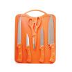 RRS ชุดเซ็ตมีดทำครัว 6 ชิ้น รุ่น GS001536 - สีส้ม