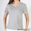 Ten & Co Basic T-Shirt เสื้อยืดเบสิค คอวี สีพื้น T10BVS01 สีเทา
