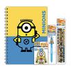 MINIONS Set D2 สมุดสันห่วงA5+กระดาษฉีก+ปากกา+ดินสอไม้HB