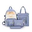 Fancybag Bag กระเป๋าเป้ SET 4 ใบ สีฟ้า