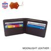 MOONLIGHT กระเป๋าสตางค์หนังแท้ รุ่น Flash ไซส์เล็ก สีน้ำตาลเข้ม
