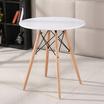 CASSA โต๊ะกลมอเนกประสงค์สไตล์โมเดิร์น สีขาว