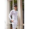 Barbari เสื้อยืดคอกลมแขนยาว Premium Cotton 100% รุ่น Basic ใส่ได้ทั้งผู้หญิง/ผู้ชาย BRL1 สีขาว