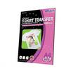 Hi-jet กระดาษทรานเฟอร์ สำหรับผ้าสีอ่อน Inkjet Platinum Transfer Paper for Light-colored Textile 120แกรม A4 (5 แผ่น)