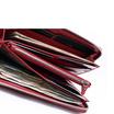 Coni Cocci กระเป๋าธนบัตรแบบซิปรอบหนังแท้อัดลายช้า สีม่วง