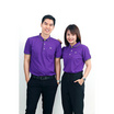 CP ALL เสื้อโปโลหญิง Upcycling สีม่วง