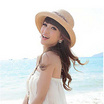 OSAKA รุ่น UP39-สีน้ตาลอ่อน หมวกสาน